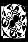 Samenvoegen en ritmische herhaling van eenvoudige grafische elementen
