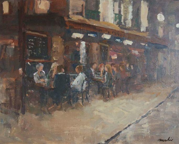 Avondterras in Parijs
