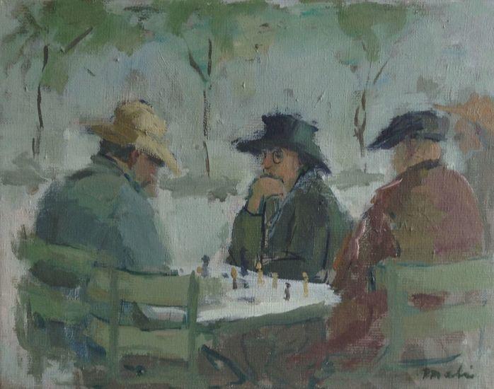 Schakers in Jardin du Luxembourg