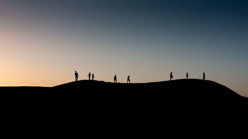 Zonsondergang 1 (woestijn)