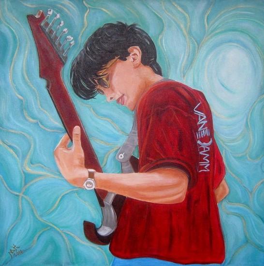 Remco met gitaar