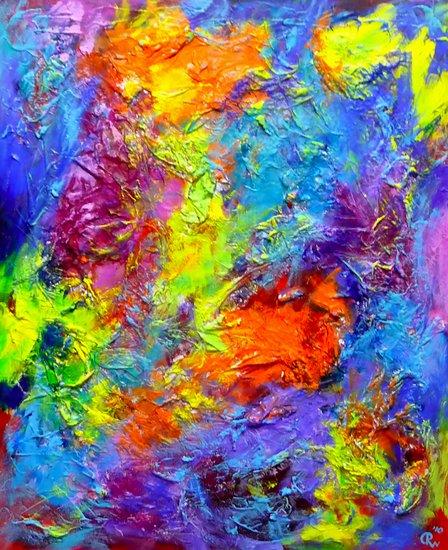 Compositie met kleuren nr. 1