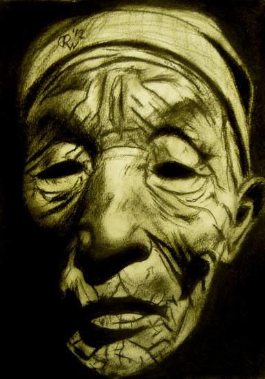 Oude man, donker