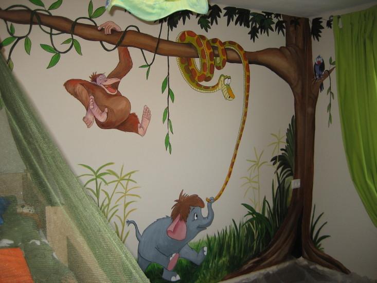 Jungle Book Slaapkamer : Jeannine Brouns - Damen - muurschildering ...