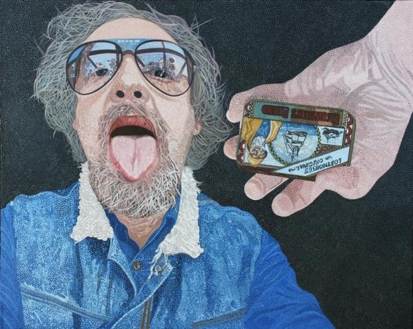 portret van de artiest
