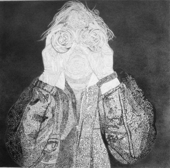 zelfportret met goggles