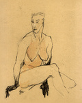 here you see drawings and/or sketches of figures, mostly nude models, in pencil, pen and ink, watercolors, ...